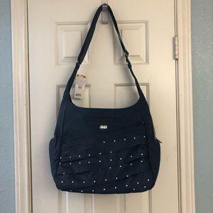 """Lug, """"Parachute"""" bag, navy polka dots"""